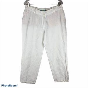 Boden WM312 Truffle Straight Leg Linen Crops Pant